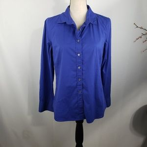 J.Crew Haberdashery Top Button Front Shirt Blouse